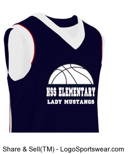 YOUTH SIZE LADIES BASKETBALL JERSEY Design Zoom